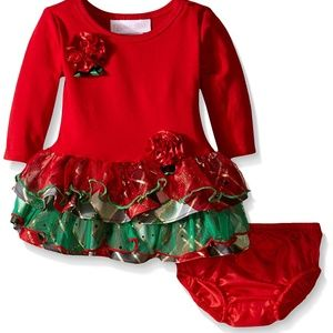 Bonnie Baby Tiered Tutu Christmas Holiday Dress
